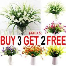 Artificial Lily Tulip Flowers Fake False Plastic Outdoor Plants Grass Garden AA