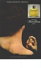 PUBLICITE 1976   REVILLON parfum DETCHEMA