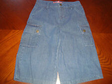 Youth Boys Size 14 Freestyle Cargo Jeans Shorts Cotton Denim with Snap Pockets