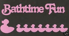 Scrapbooking Words & Designs-Bathtime Fun + ducks-pink