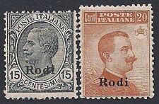 EGEO RODI 1918 /22 - V. EMANUELE III, n.11/12 INTEGRI € 520