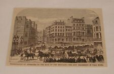 1876 magazine engraving ~ KING OF BELGIUM IN PALL MALL, London