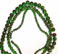"G2377 3-Strands Dark Green 4mm 6mm 8mm Round Metallic Drawbench Glass Beads 32"""