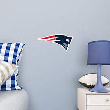 "New England Patriots FATHEAD Primary Team Logo 15"" x 8"" NFL Wall Graphics Decal"