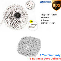 Steel 10 Speed 116 Links Road Mountain Bike Chain MTB Bicycle for Shimano Sram