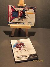 2010-11 Panini All Goalies Stopper Sweaters Blue #16 Peter Budaj + 10 Base