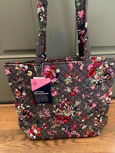 Vera Bradley Hope Blooms BCA Gray Pink Floral Tote Purse Shoulder Bag NWT