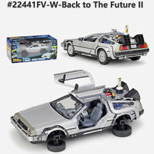 Back To The Future 1 2 3 Delorean DMC-12 Fly Mode Time Machine - 1:24 Model Car