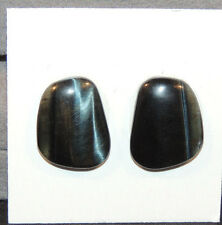 Blue Tiger's Eye 18x14mm with 4mm dome Cabochons Set of 2  (11511)