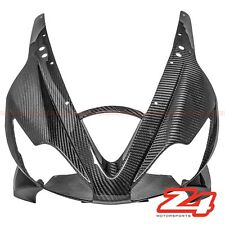 2006-2008 Daytona 675 Upper Front Nose Headlight Cover Cowl Fairing Carbon Fiber
