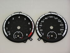 VW GOLF 7 MK7 R Tacho cluster Tachoscheiben Zifferblätter Dial Faces 320 KMH OEM