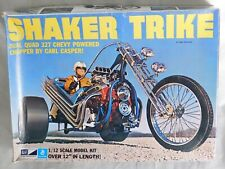 VTG 1970's MPC CARL CASPER's SHAKER TRIKE CHOPPER MOTORCYCLE MODEL KIT 1/12