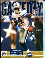 2003 Dallas Cowboys vs Atlanta Falcons Joey Galloway Program 9/7/2003 48071 B7