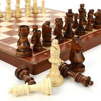 Classic Wooden Chess Set - Wooden Chess Board and Staunton Style Wood Pieces -