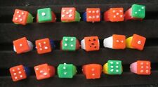 VINTAGE Plastic DICE RING Gumball Vending Toy Prize LOT