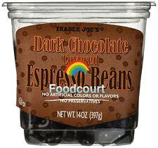 Trader Joe's Dark Chocolate Covered Espresso Beans 14 oz
