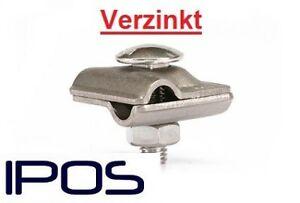 IPOS Multiklemme Kreuzverbinder Verzinkt Blitzschutz Rundleiter Bandstahl