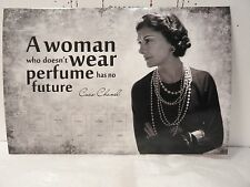 """3 postcard glossy aphorism Coco Chanel """"A woman who does not know how to use..."""