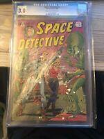 Space Detective #1 CGC 3.0  VINTAGE IW Enterprise Comic Golden Age 10c