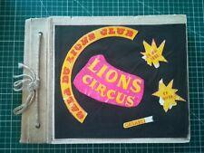 Album 28 photos 17x17cm anciennes thème cirque circa 1960, spectacle lions club