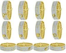 14K Yellow Gold Finish Zodiac Astrology Micro Pave Presidential Link Bracelet