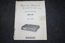 Casio DA-2 Service Manual