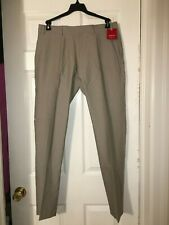 Saks Fifth Avenue Red Men's Chino Pants Trim Fit Flat Front Khaki 36 x 34  NWT
