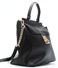 Tommy Hilfiger $128 NWT Black Leather Saffiano Chain Top Handle Satchel Purse
