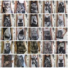 Animal Print Regular Size Vests for Women