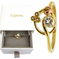 Clogau Ring Size O Topaz 9ct Yellow and Rose Welsh Gold Tree of Life Origin