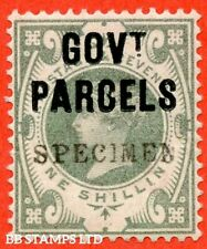 "SG. 068 s. L29 s. 1/- dull green. "" Govt. Parcels "". An average example o B43790"