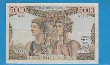 Gertbrolen 5000 FRANCS (TERRE ET MER ) du 3- 10-1957  Q.180