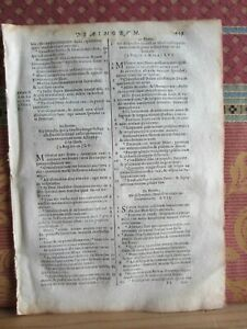 1693- BIBLE LEAF. VULGATE SIXTO-CLEMENTINE. CATHOLIC RELIGION. ORIGINAL-H 449