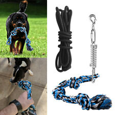 Durable Spring Pole Pet Dog Rope Toys Hanging Exercise Rope Pull+5M Black Ropes