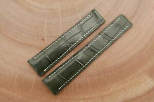 20mm Grey Genuine CROCODILE, ALLIGATOR Leather Watch Strap forTagHeuer Carrera