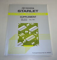 Workshop Manual Electric Electrical Wiring Diagram Toyota Starlet, 05/1994