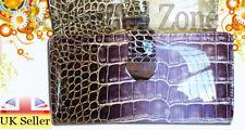 Porte-monnaie chéquier en cuir pour femme