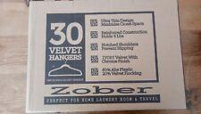 Zober Kids Velvet Hangers with Chrome Hooks - Non Slip Hangers, Ivory - 30 pack