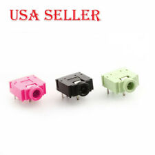 PJ307 Green/Pink/Black 5Pin 3.5mm Stereo Jack Socket Audio Jack Connector Female