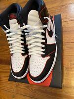 Nike Air Jordan 1 Retro High OG BloodLine Black Gym Red Men's SIZE 14