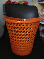 poubelle de bureau plastic neuve orange