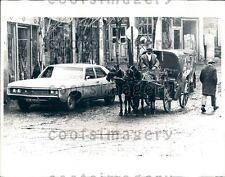 1973 Horse Drawn Cab Street Scene Erzurum Turkey Press Photo