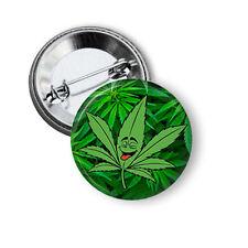 """Marijuna Plant Pinback Funny Pins Weed Humor Flair 1.5"""" Button Pin Badge Pins"""