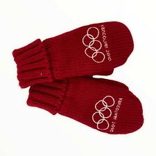 Vancouver 2010 Olympics Knit Red Mittens Adult S M Canada Gloves NWT