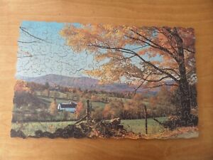 VINTAGE CHAD VALLEY SUPER-CUT WOODEN JIGSAW PUZZLE - New England -250 pieces