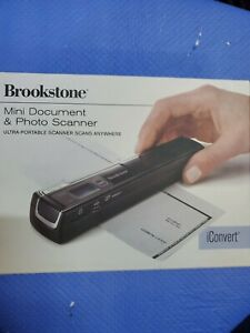 BROOKSTONE iCONVERT PORTABLE DOCUMENT AND PHOTO SCANNER IN BOX (PK)