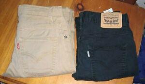 2 Pairs       Boys  Levis  Jeans   slim  Size 14