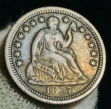 1857 O Seated Liberty Half Dime 5C High Grade XF AU Crain US Silver Coin CC2513
