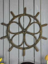 """Large antique French steering wheel from a boat 40½"""""""