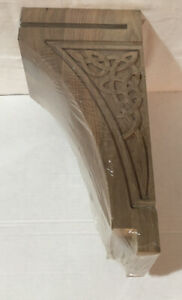 "Walnut Wood  Gaelic Corbel  Unfinished.  14""L x 5.5""W x 7 1/8 "" D *New*"